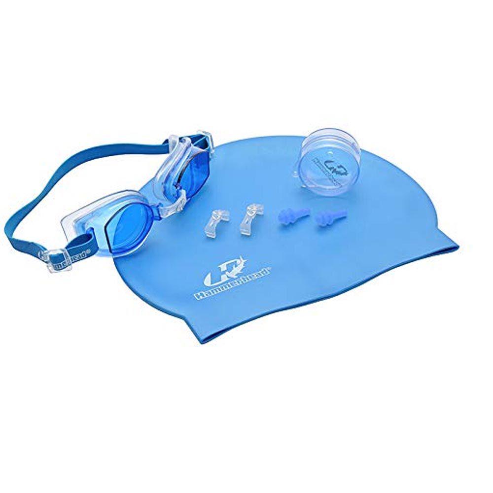 Kit de Natação / Hidroginástica - Touca + Protetor + Óculos - Fernando Scherer - Hammerhead  - Loja do Competidor