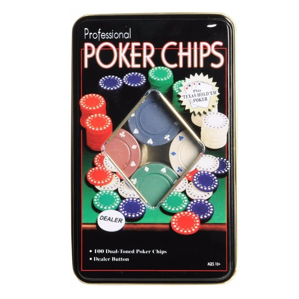 Kit de Poker - 100 Fichas sem Numeração - Pentagol  - Loja do Competidor