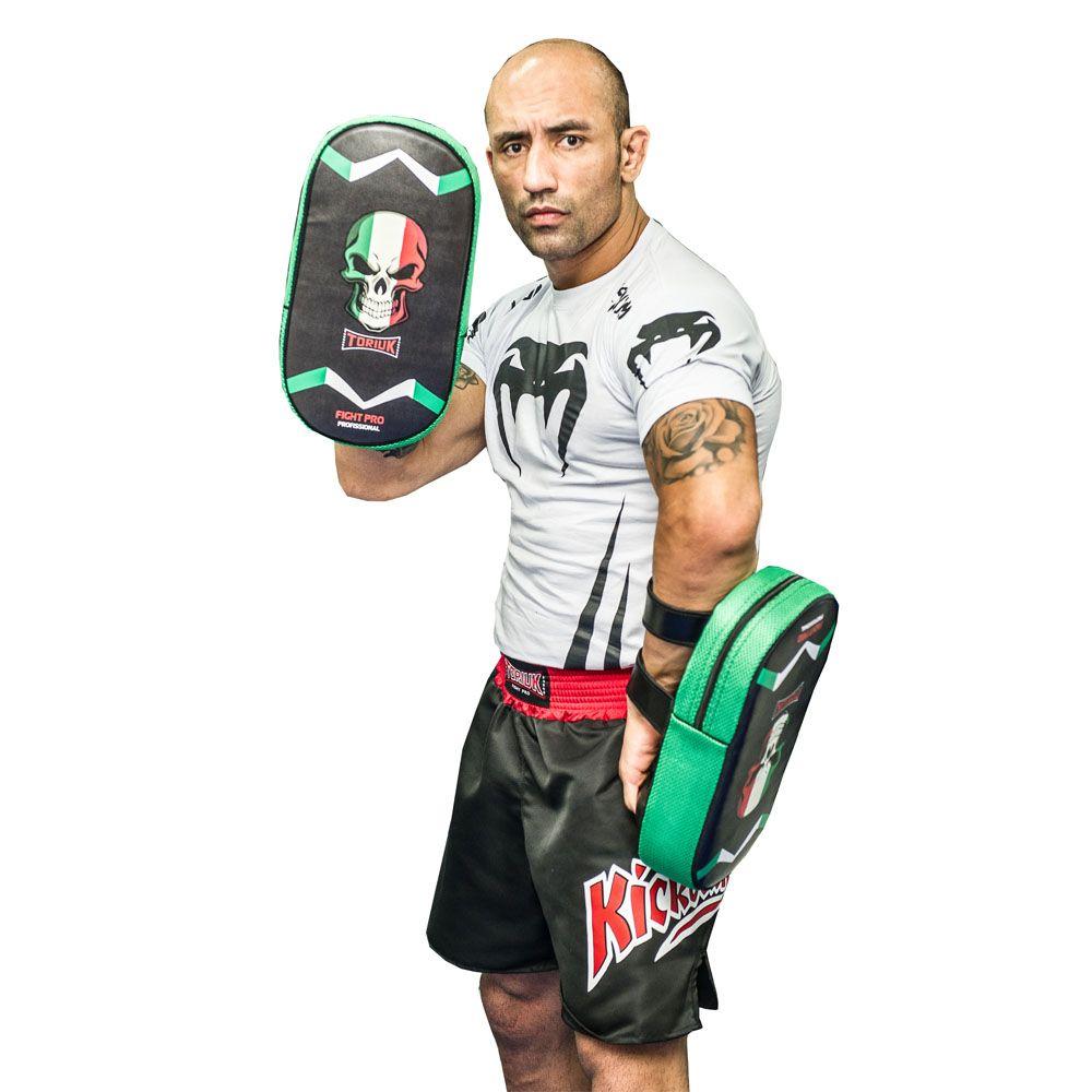 Kit Manoplas de Soco e 1 Par de Thaipads M - Muay Thai - Toriuk  - Loja do Competidor