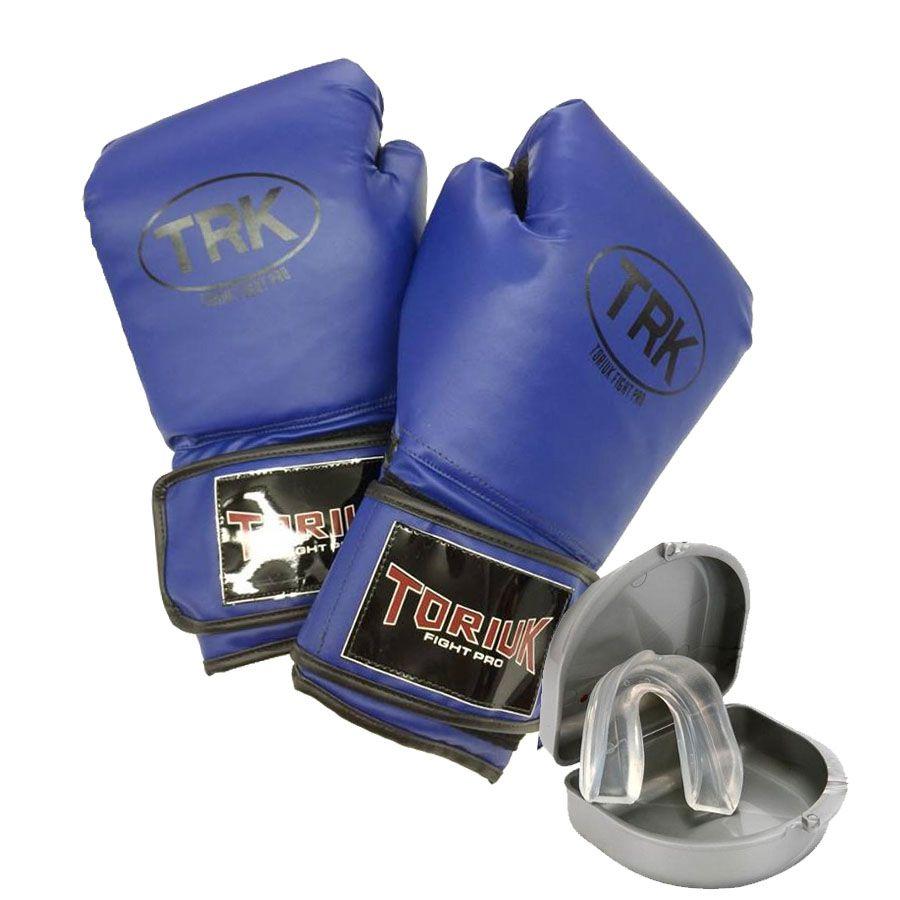 Kit Luvas de Boxe + Protetor Bucal Superior