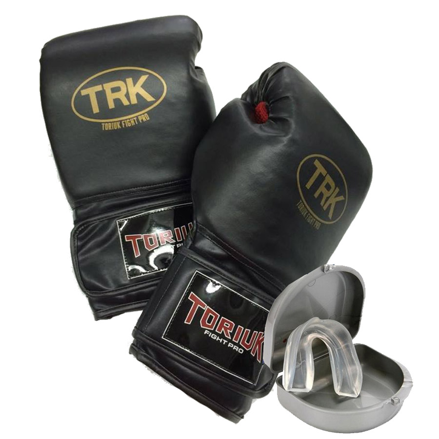 Kit Luvas de Boxe + Protetor Bucal Superior  - Loja do Competidor