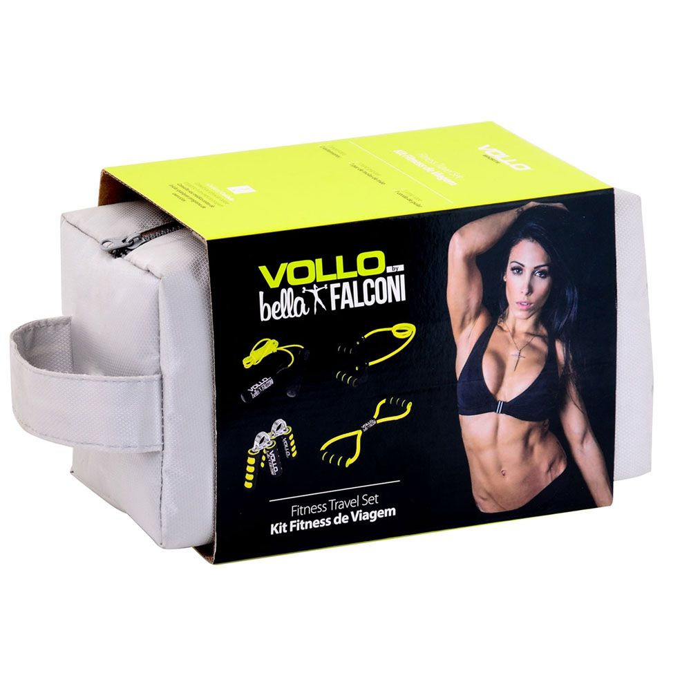 Kit Fitness Multifuncional Bella Falconi - Extensor Corda e Handgrip - VP1025 - Vollo