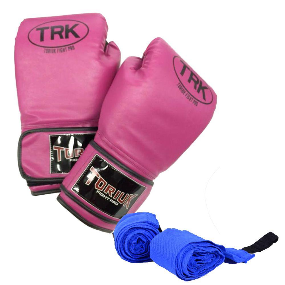 Kit Luvas de Boxe + Bandagem Elástica - Toriuk