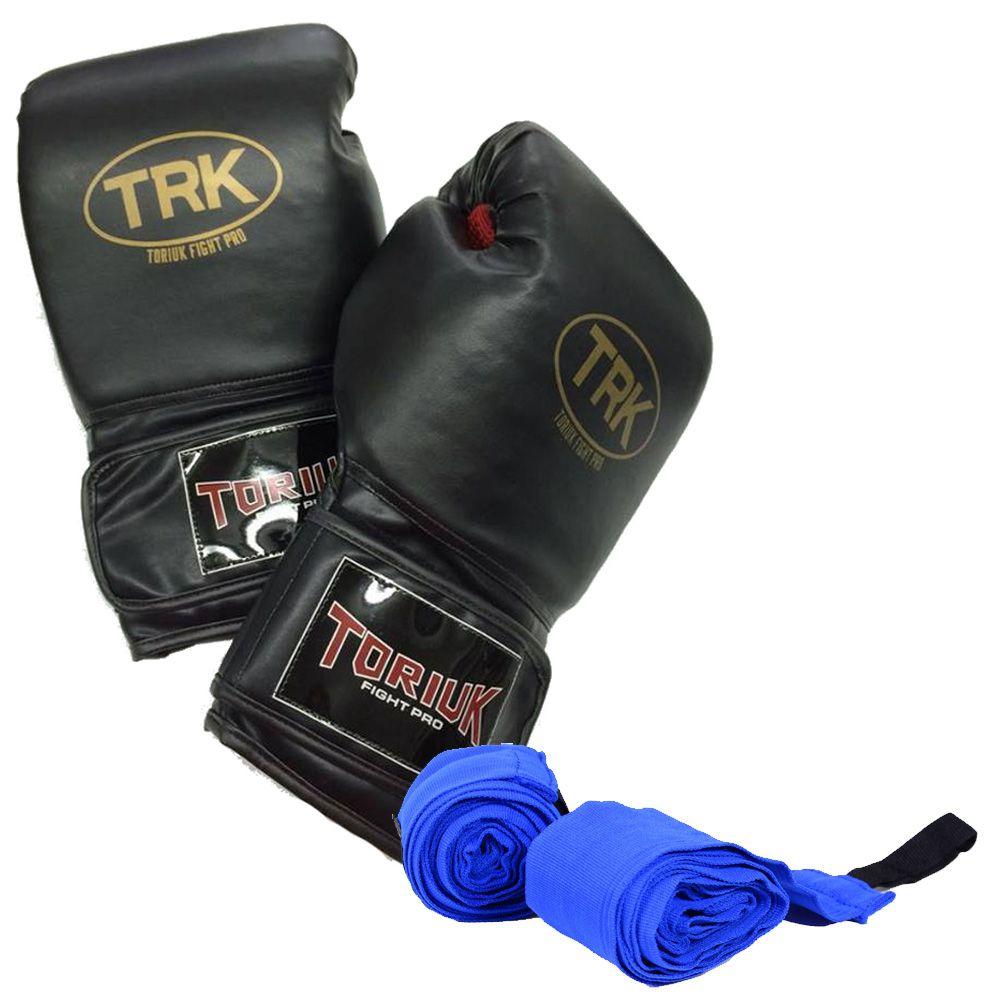 Kit Luvas de Boxe + Bandagem Elástica - Toriuk  - Loja do Competidor