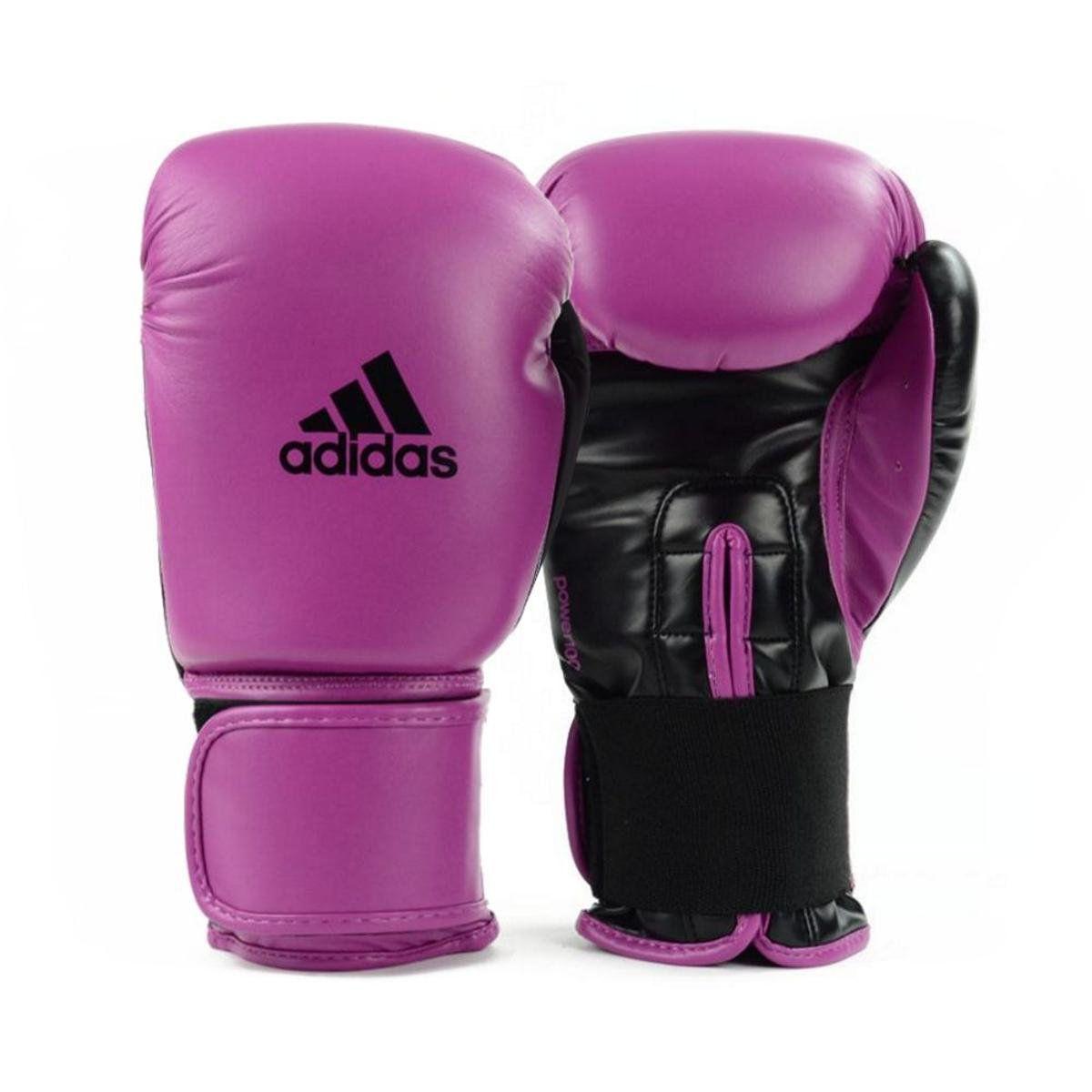 Luvas Boxe Muay Thai - Adidas Power 100 - Rosa - 14 OZ