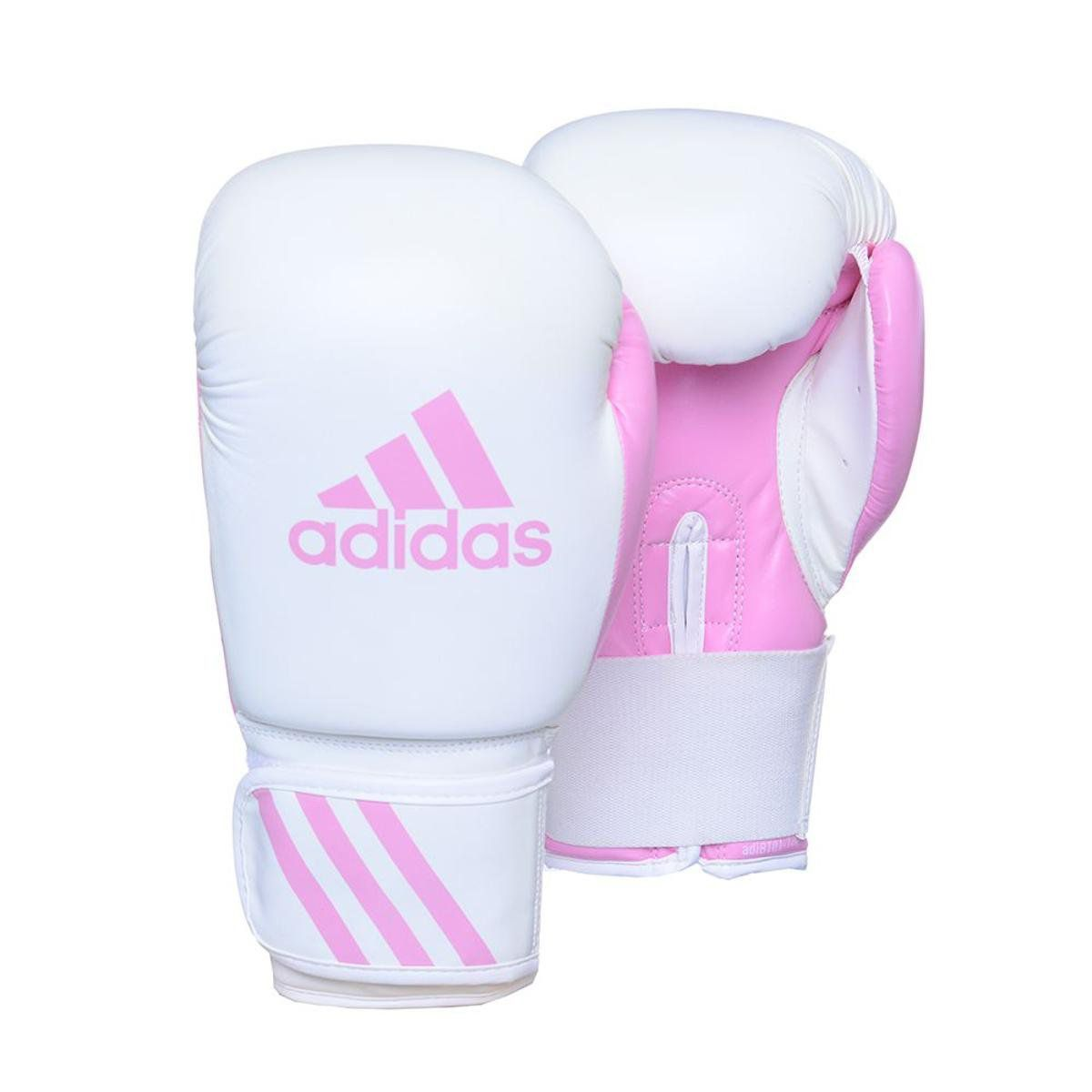 Luvas Boxe / Muay Thai - Adidas Response - Branca / Rosa - 10 OZ