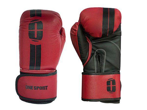 Kit Luvas Boxe / Muay Thai - Elite - One Sport - Vermelho - 12/14 OZ .  - Loja do Competidor