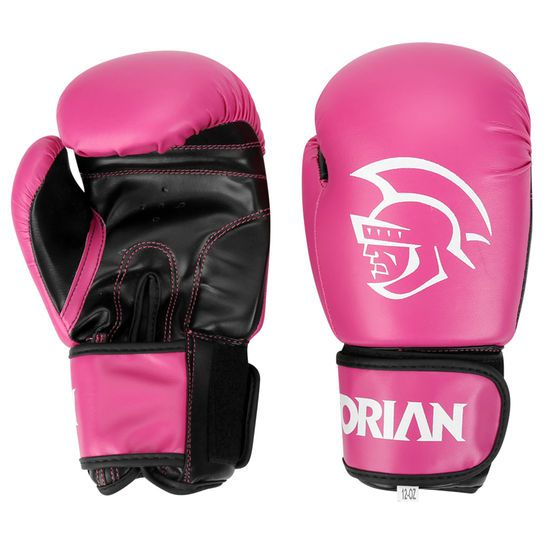Kit Luvas Boxe / Muay Thai -  Pretorian First - Rosa - 10/12/14 OZ  - Loja do Competidor