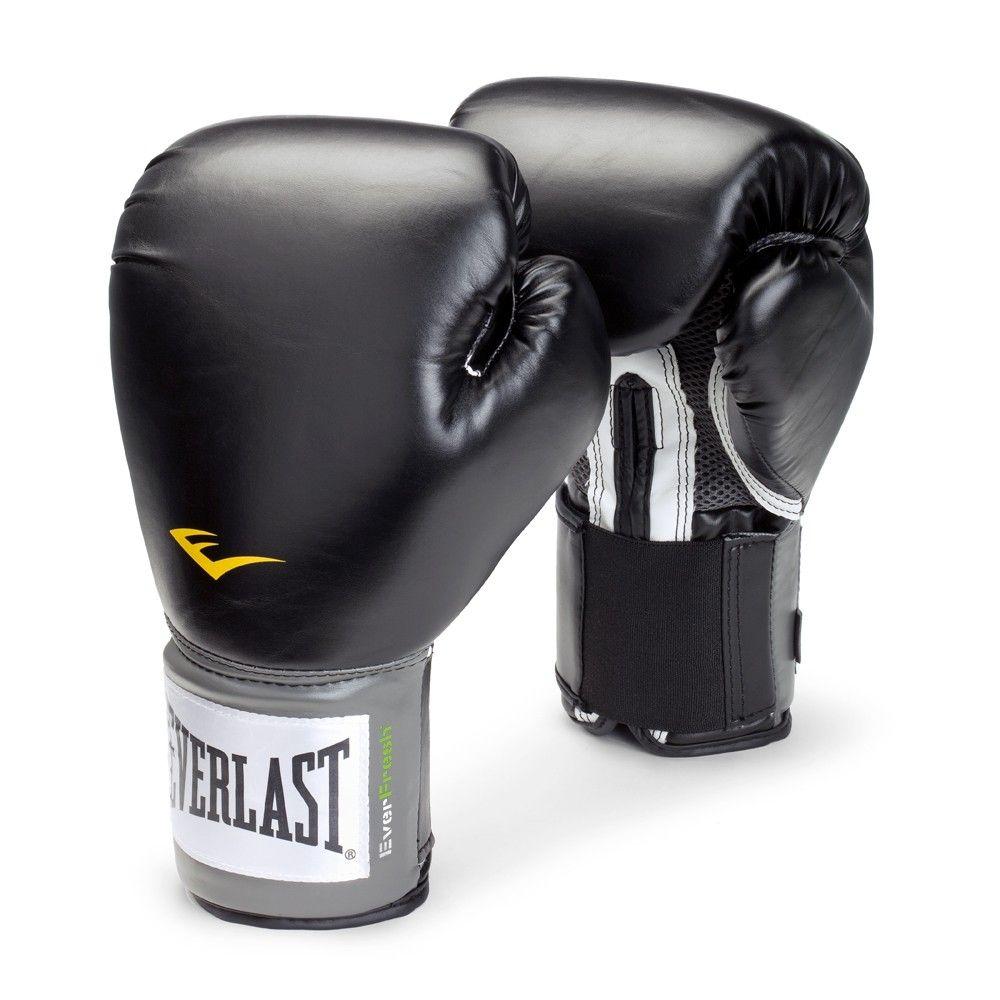 Kit Luvas Boxe Muay Thai - Training - KP012LBP - Preto- Everlast  - Loja do Competidor
