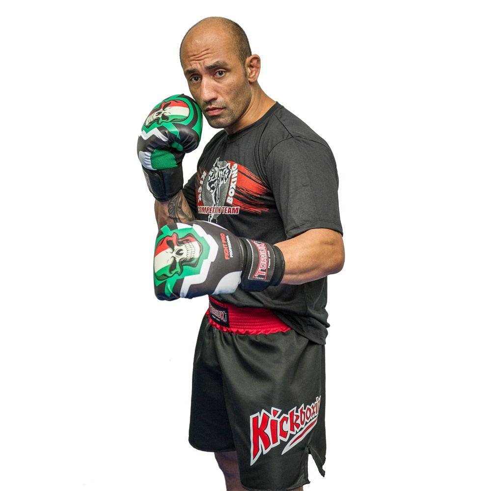 Kit Luvas de Boxe Caveira Mexicana + Bandagem 3m + Bucal Superior  - Loja do Competidor
