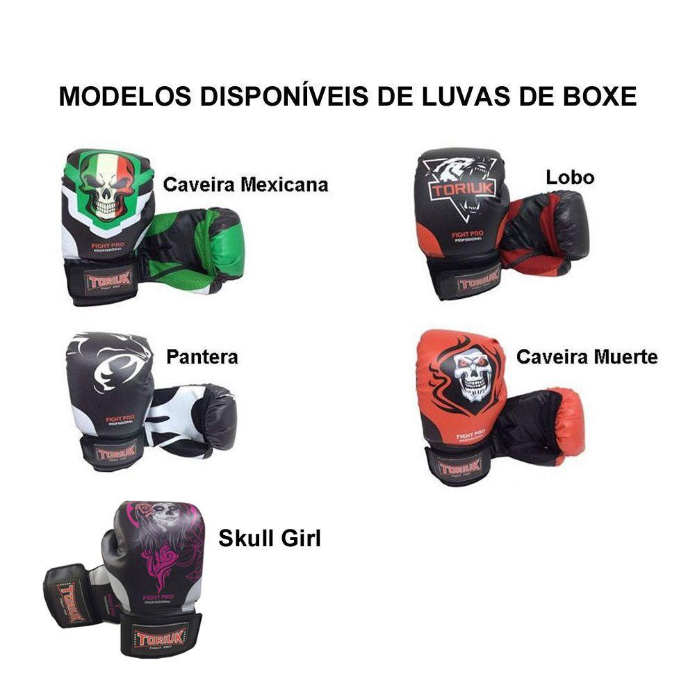 Kit Luvas de Boxe Elite + Bandagem 3m + Bucal + Caneleira Profissional  - Loja do Competidor