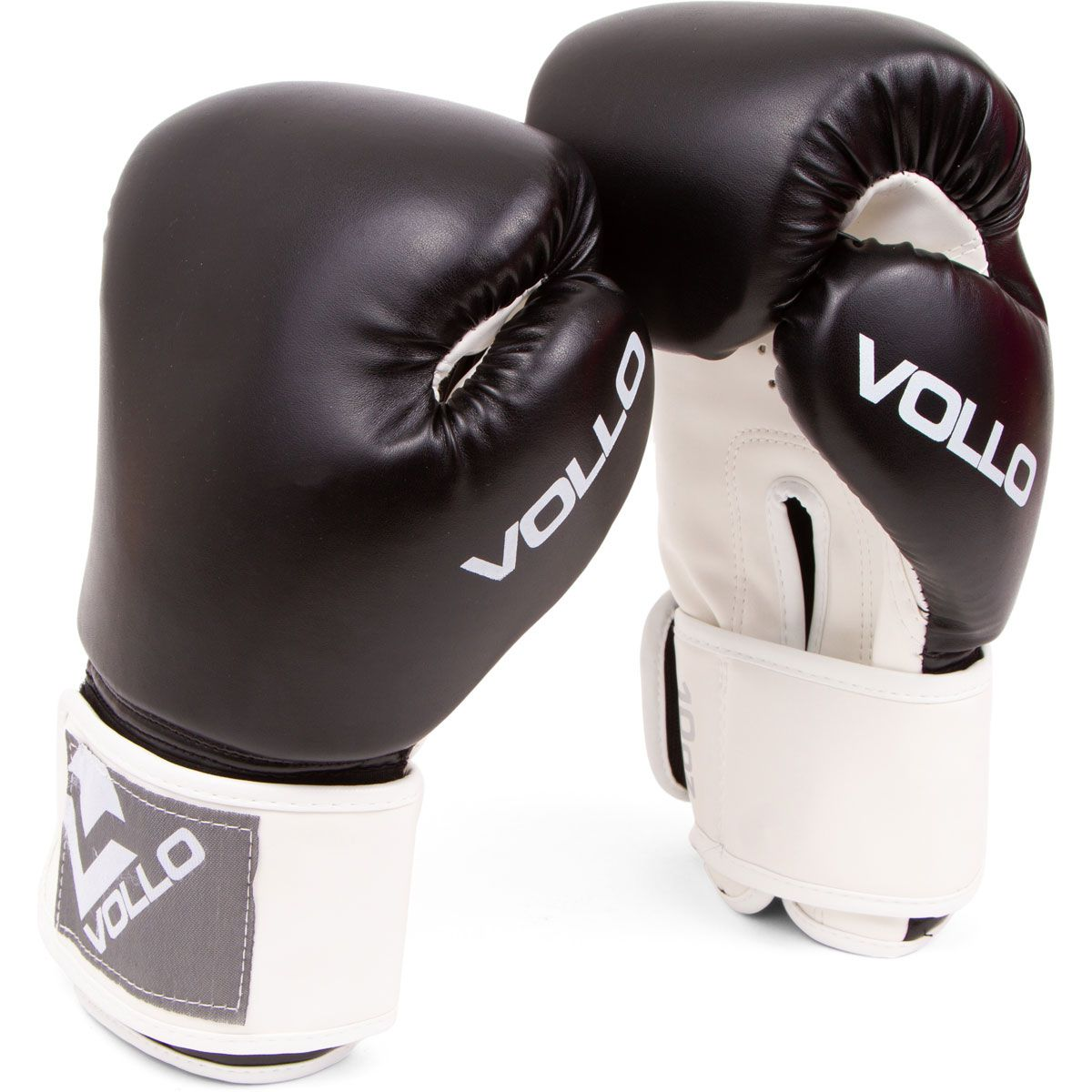 Kit Luvas de Boxe/Thai + Bandagem + Bucal - Preto - 10 Oz - Vollo