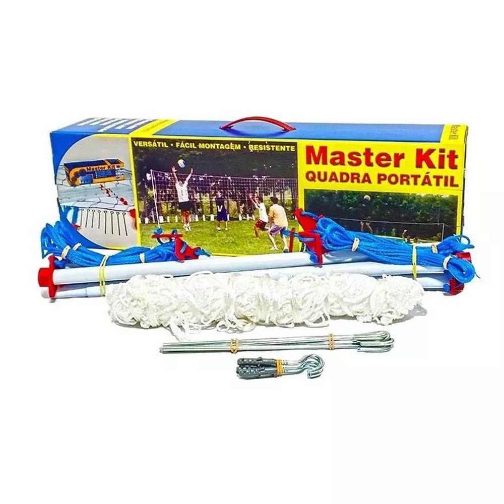Kit Master Volei Quadra - Portátil - 2 Mastros Com Rede - Pentagol  - Loja do Competidor