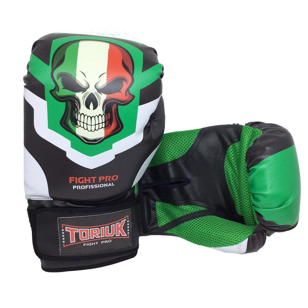 Luva de Boxe Muay Thai Elite Pro - Caveira - 08 a 16 OZ - Toriuk