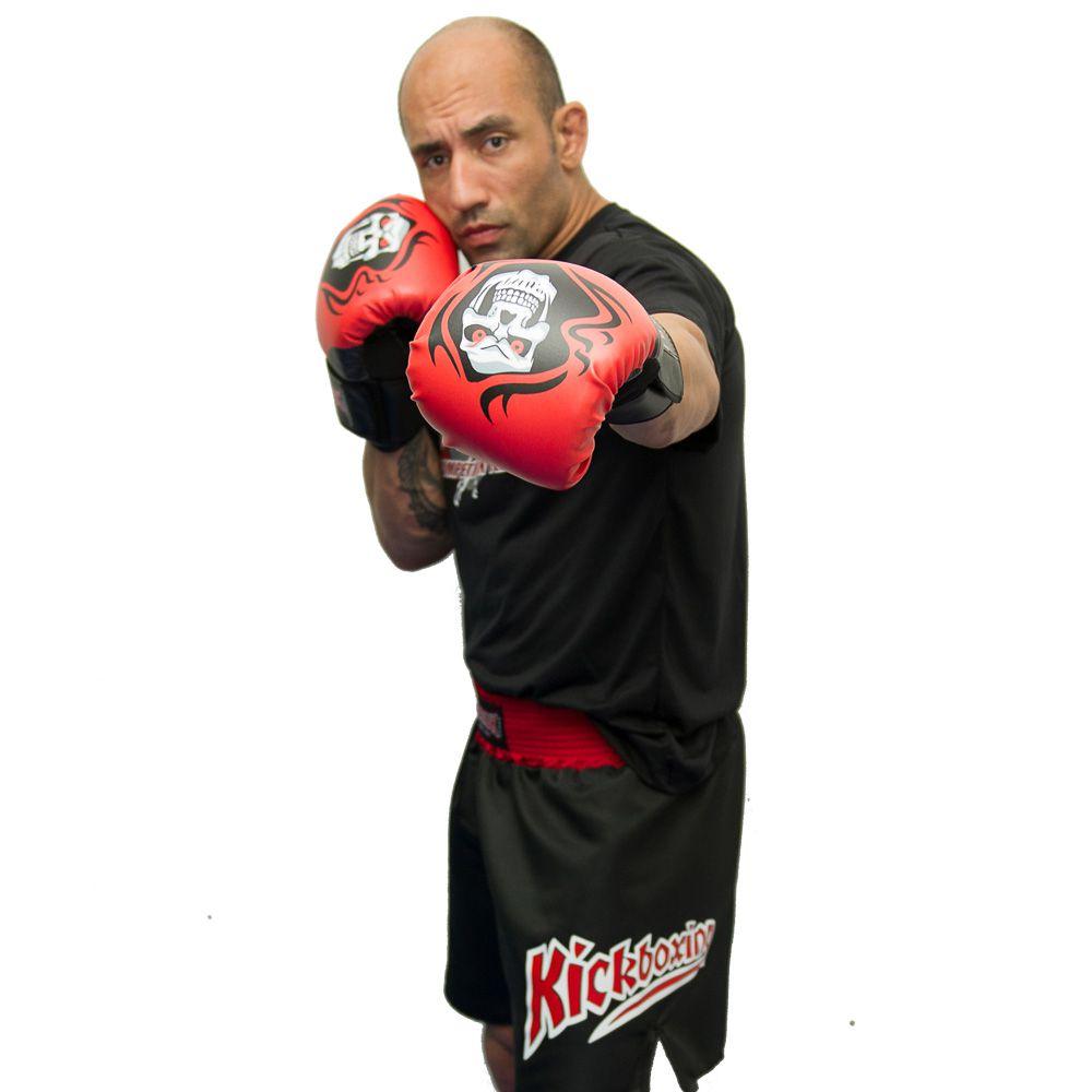 Luva de Boxe Muay Thai Elite Pro - Santa Muerte - 08 a 16 OZ - Toriuk  - Loja do Competidor