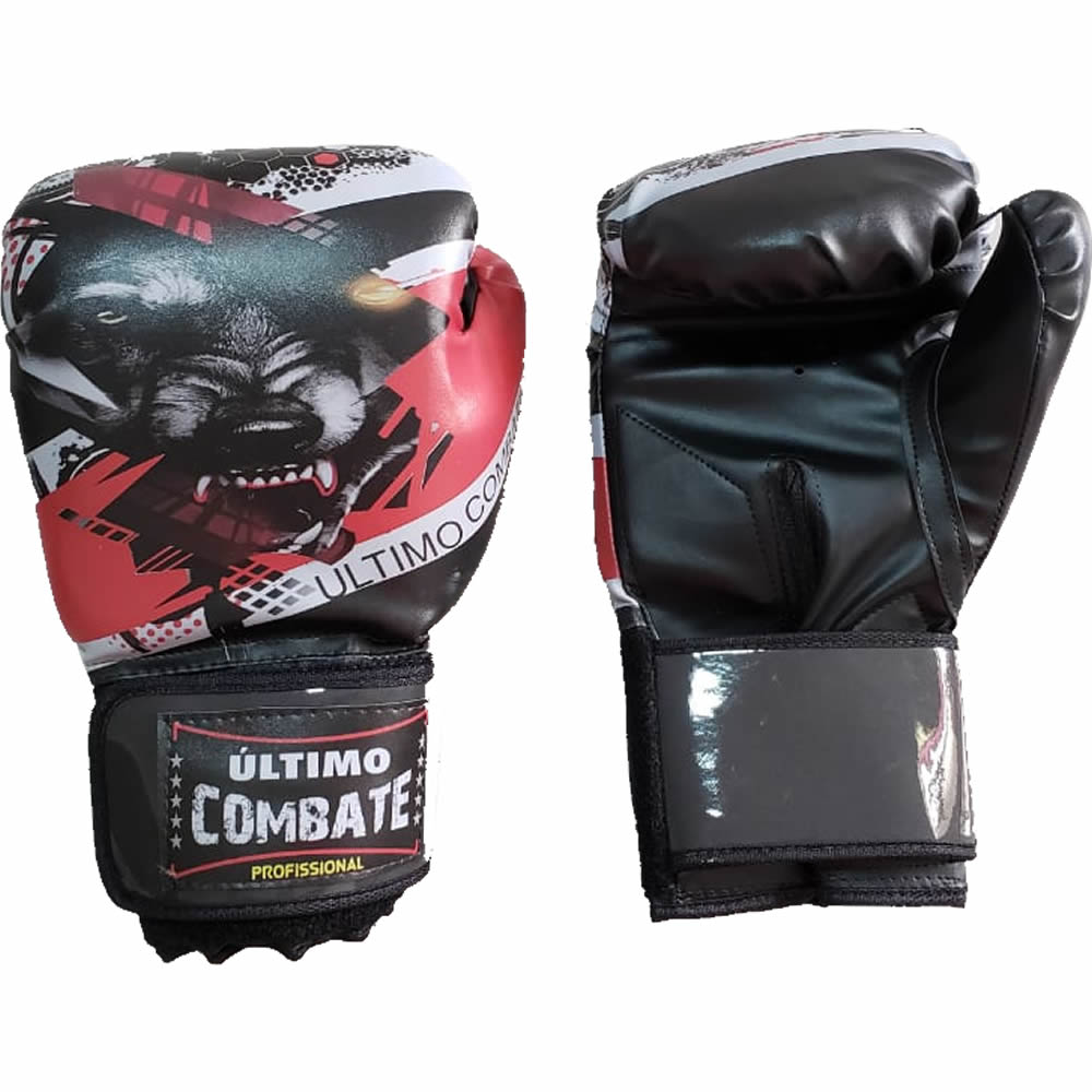 Luva de Boxe Muay Thai Lobo Wolf - 14 OZ - UC  - Loja do Competidor