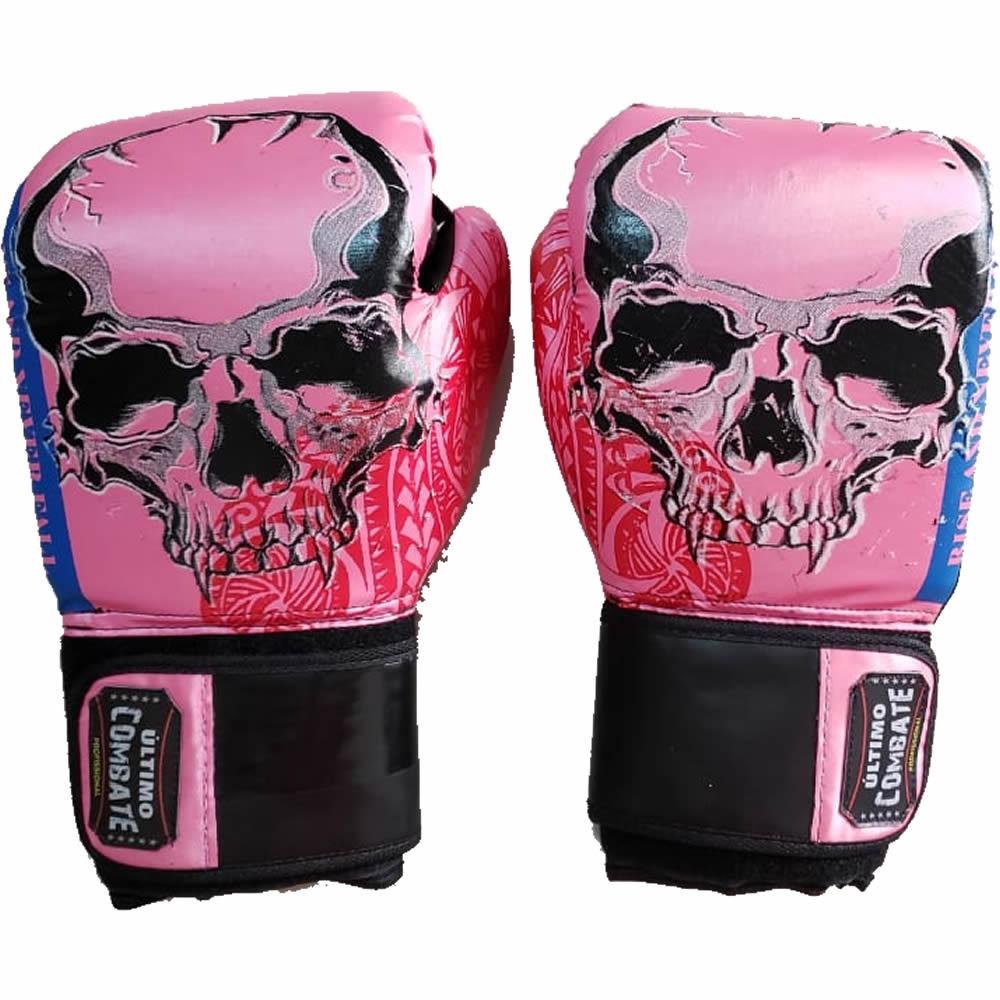 Luva de Boxe Muay Thai Pink Skull - 12 OZ - UC