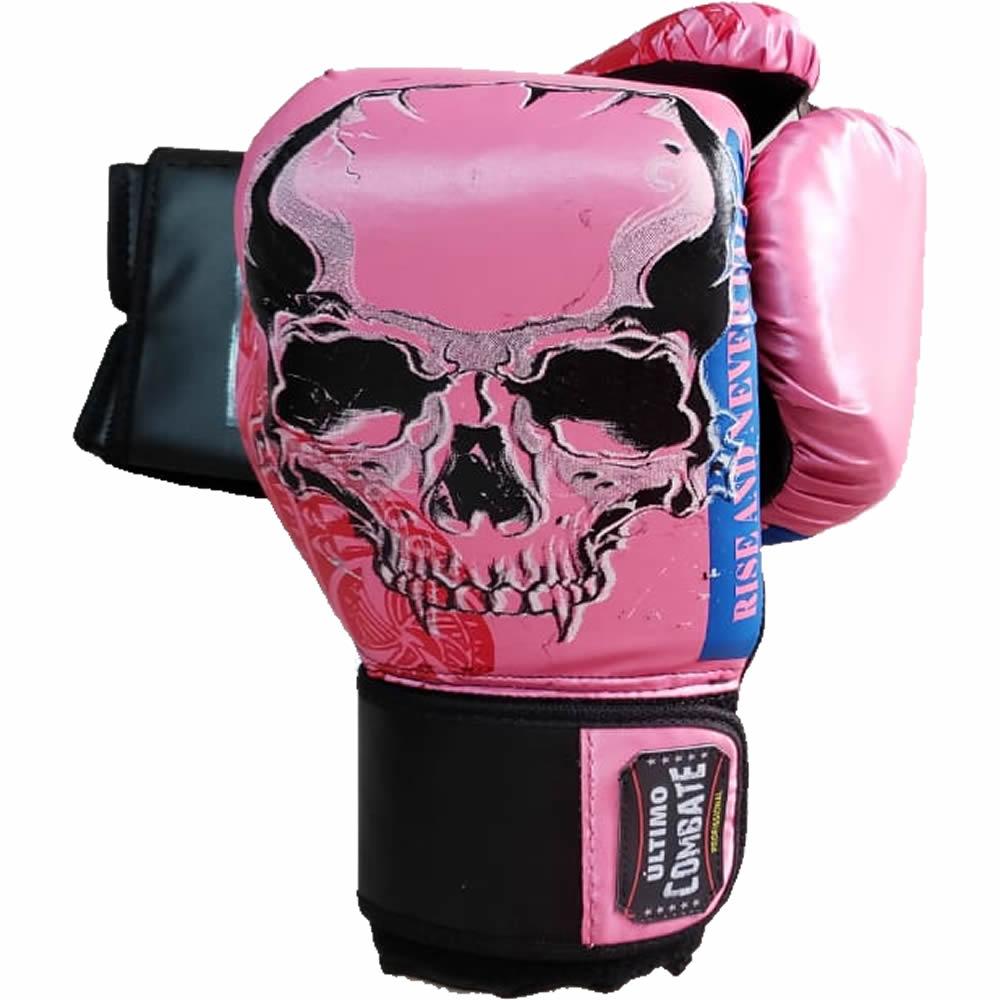 Luva de Boxe Muay Thai Pink Skull - 12 OZ - UC  - Loja do Competidor