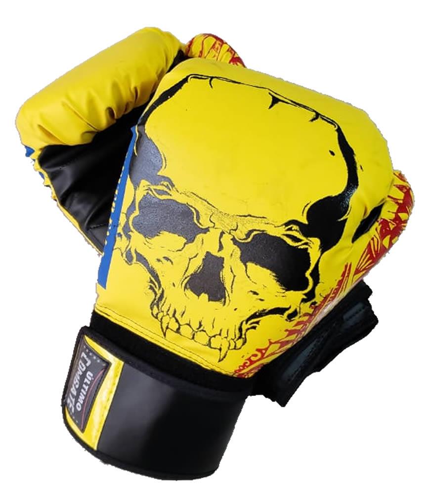 Luva de Boxe Muay Thai Yellow Skull - 12/ 14 OZ - UC