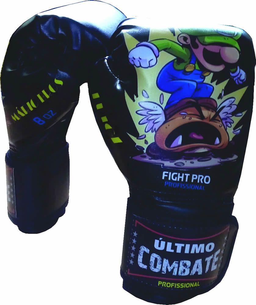Luva de Kick Boxe Muay Thai - Infantil Kids - 08z - Irmãos Mario Bros  - Loja do Competidor
