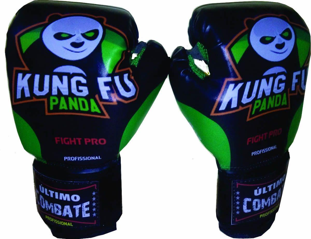 Luva de Kick Boxe Muay Thai - Infantil Kids - 08z - Kung Fu Panda