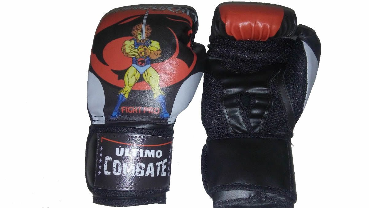 Luva de Kick Boxe Muay Thai - Infantil Kids - 08z - Thunder Cats