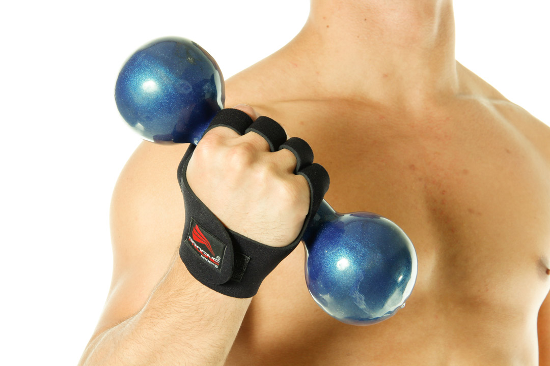 Luva para Musculação Academia e Fitness - Preta - Progne  - Loja do Competidor