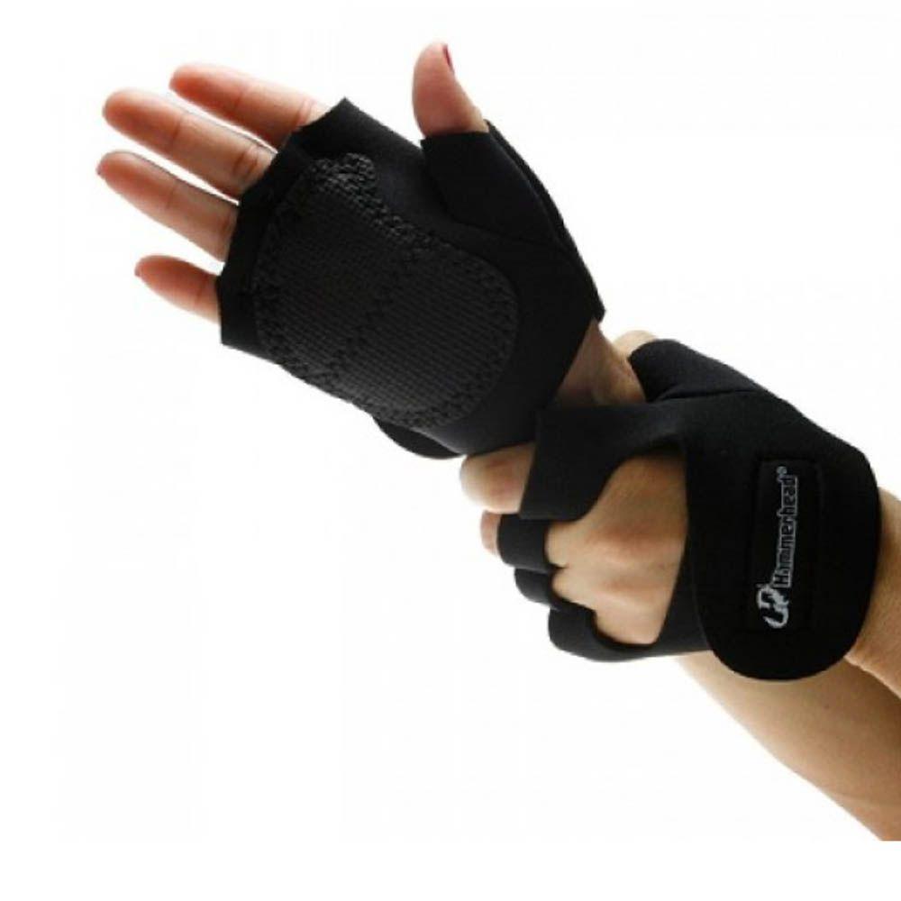 Luva para Musculação e Fitness com Polegar- Revestida -Unissex- Hammerhead