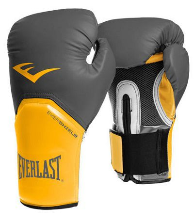 Luvas Boxe / Muay Thai - Elite  Evershield - Amarelo - Everlast -