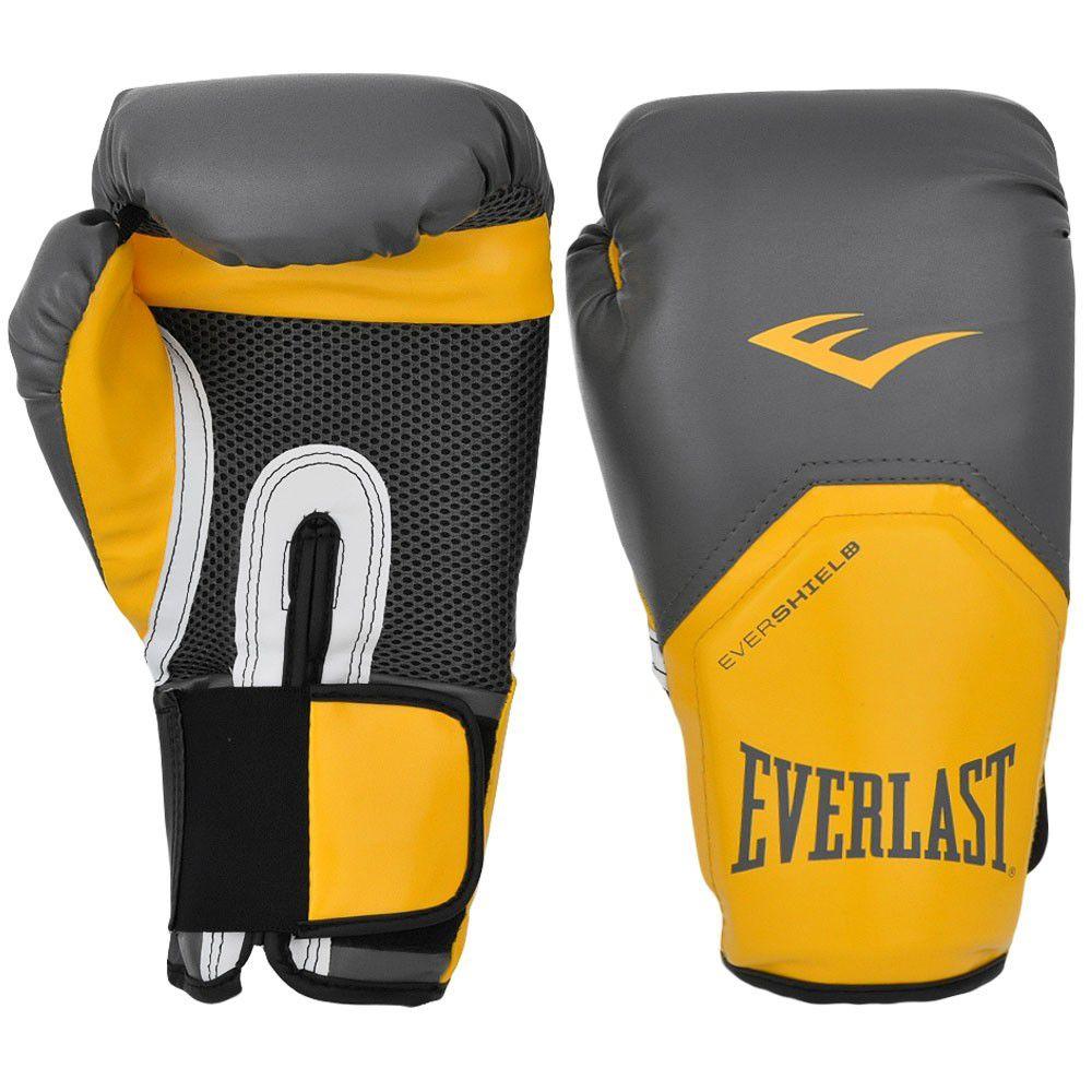 Luvas Boxe / Muay Thai - Elite  Evershield - Amarelo - Everlast -  - Loja do Competidor