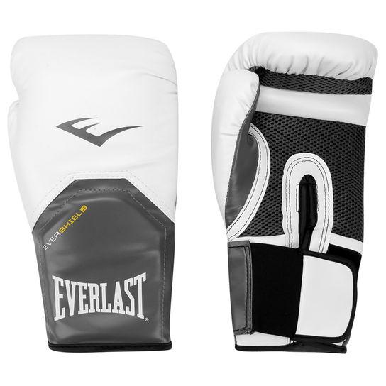 Luvas Boxe / Muay Thai - Elite  Evershield - Branca - Everlast .  - Loja do Competidor