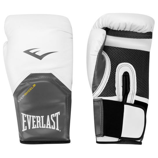 Luvas Boxe / Muay Thai - Elite  Evershield - Branca - Everlast .  - Loja do Competidor
