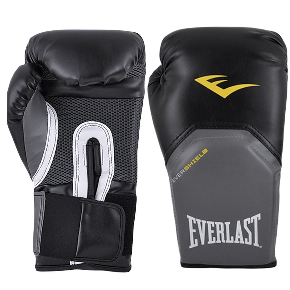 Luvas Boxe / Muay Thai - Elite  Evershield - Preto - Everlast  - Loja do Competidor