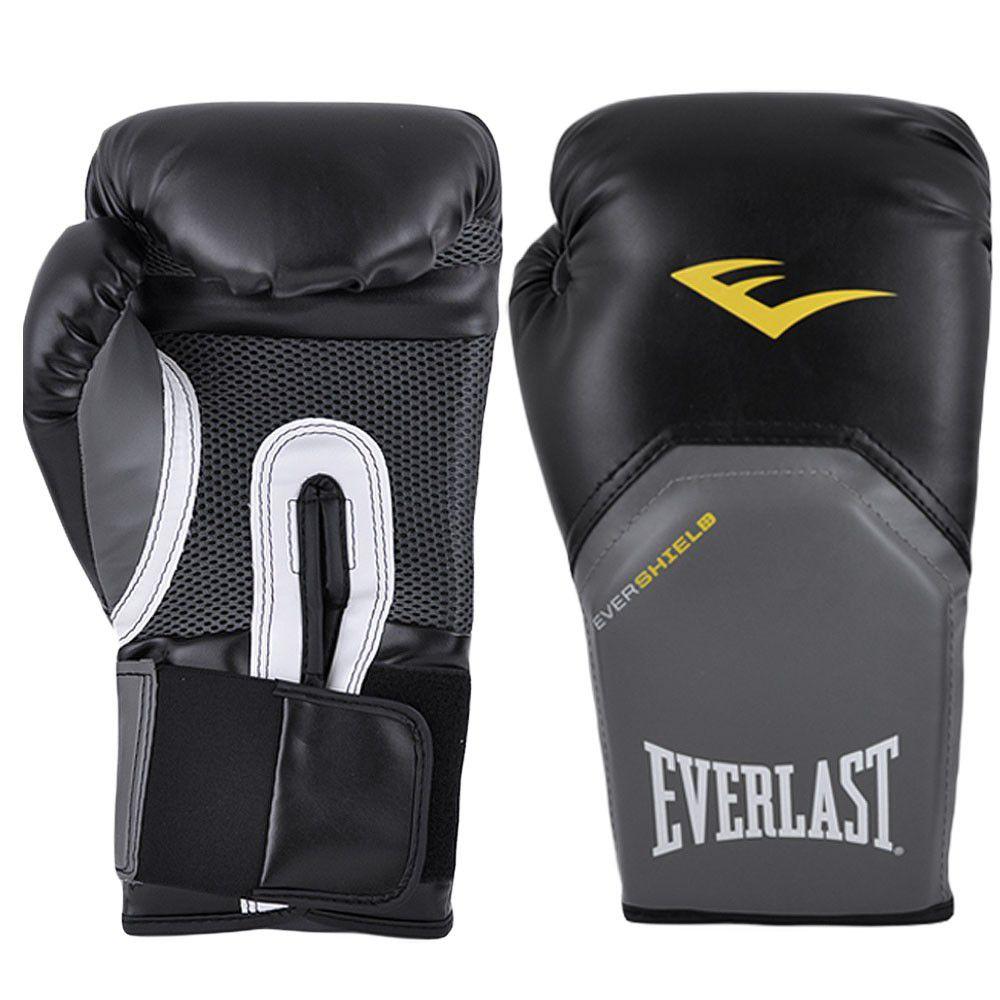 Luvas Boxe / Muay Thai - Elite  Evershield - Preto - Everlast -  - Loja do Competidor