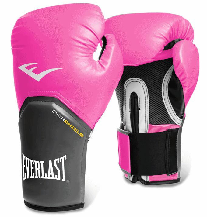 Luvas Boxe / Muay Thai - Elite  Evershield - Rosa - Everlast .