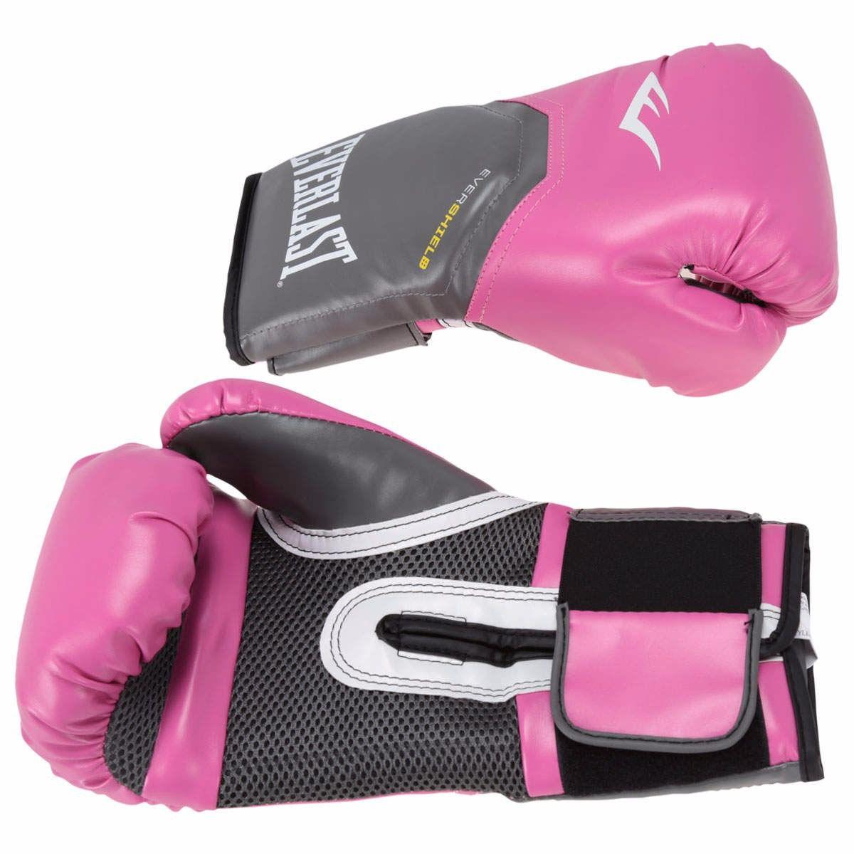 Luvas Boxe / Muay Thai - Elite  Evershield - Rosa - Everlast .  - Loja do Competidor