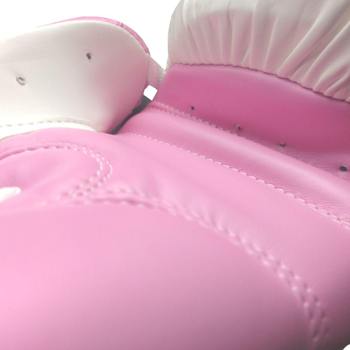 Luvas Boxe / Muay Thai - Adidas Response - Branca / Rosa - 10 OZ  - Loja do Competidor