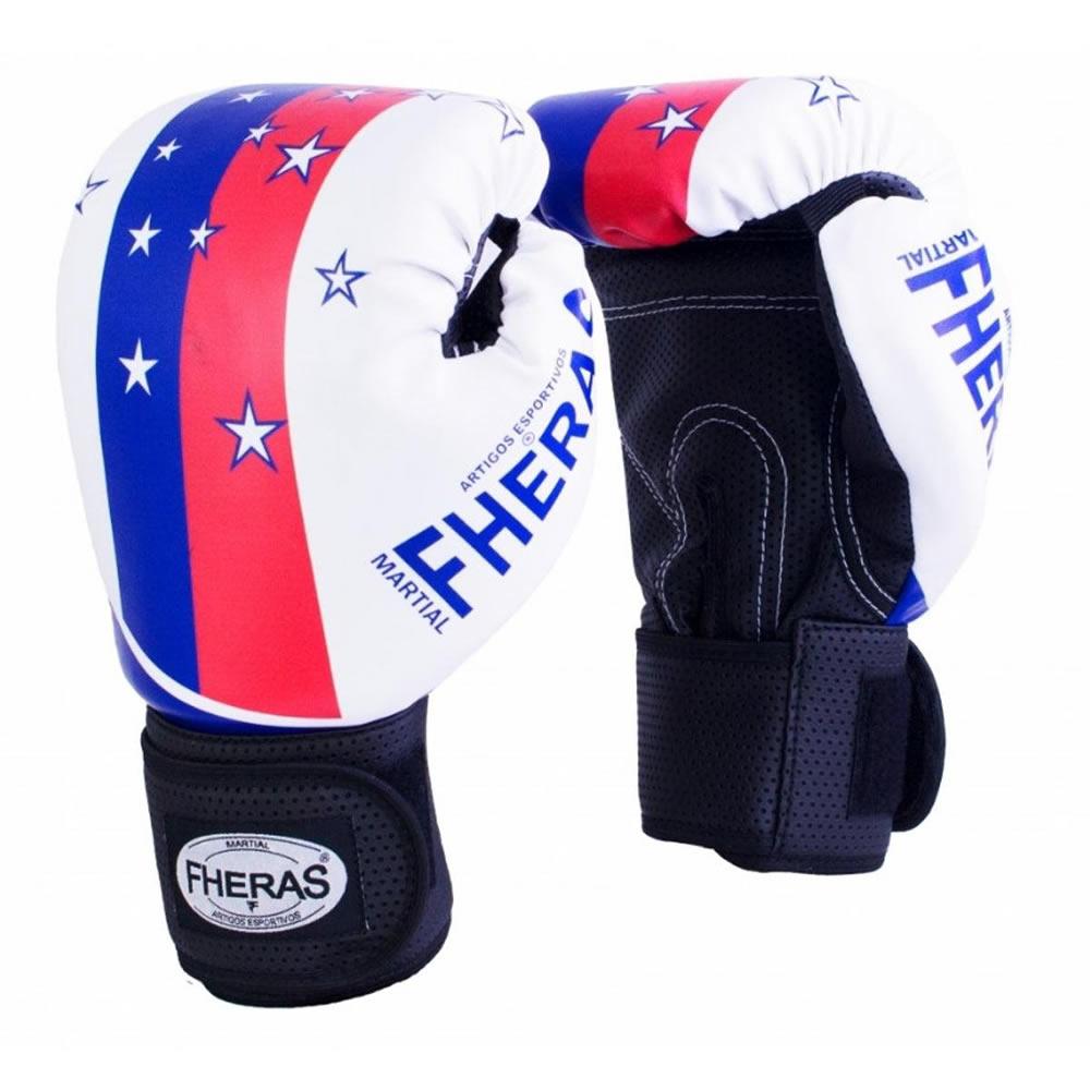 Luvas Boxe Muay Thai - American Star - Fheras - 12 / 14 OZ