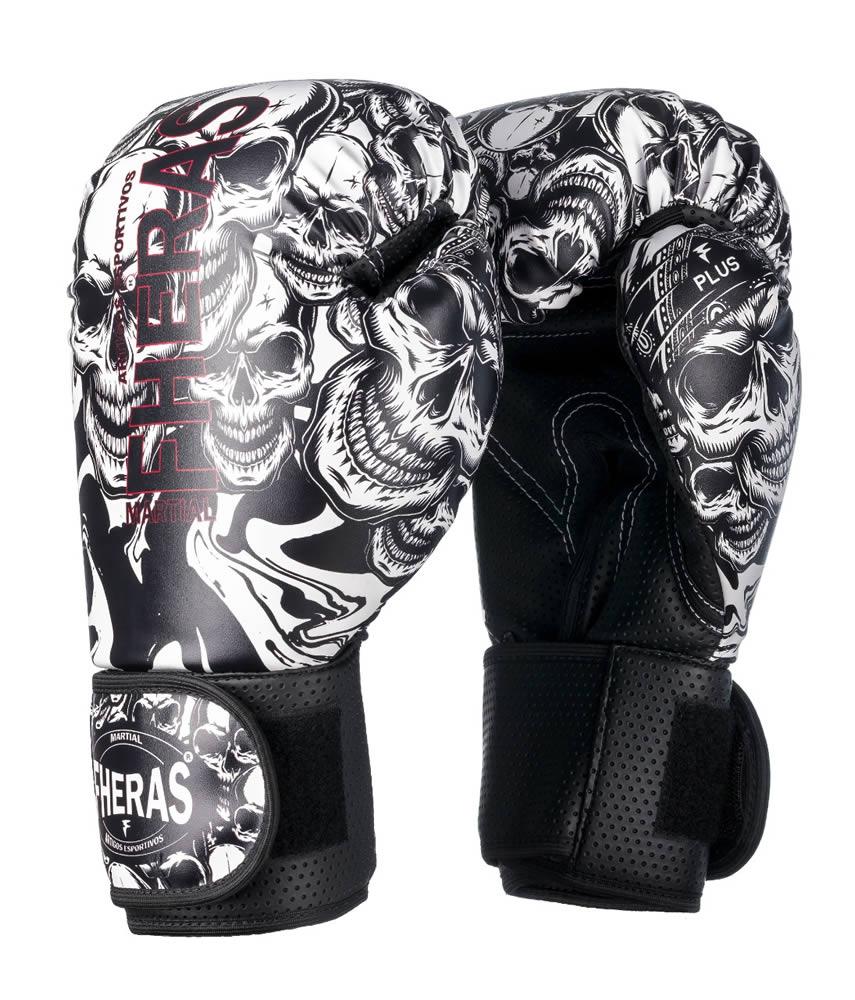Luvas Boxe Muay Thai - Caveira - Fheras - 12 / 14 OZ