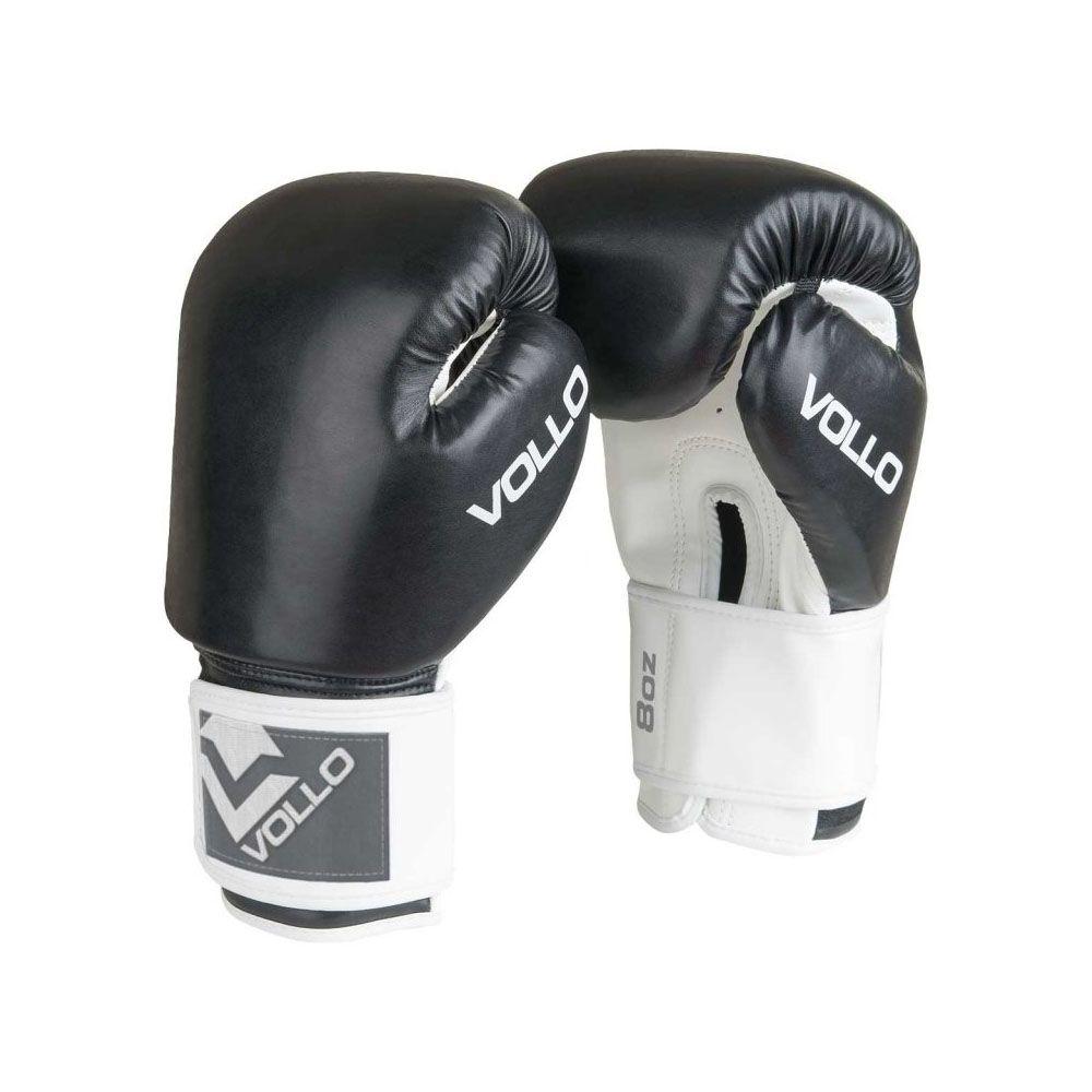 Luvas Boxe / Muay Thai - Combat - VFG301 - Preto - 10 / 12 / 14oz -  Vollo