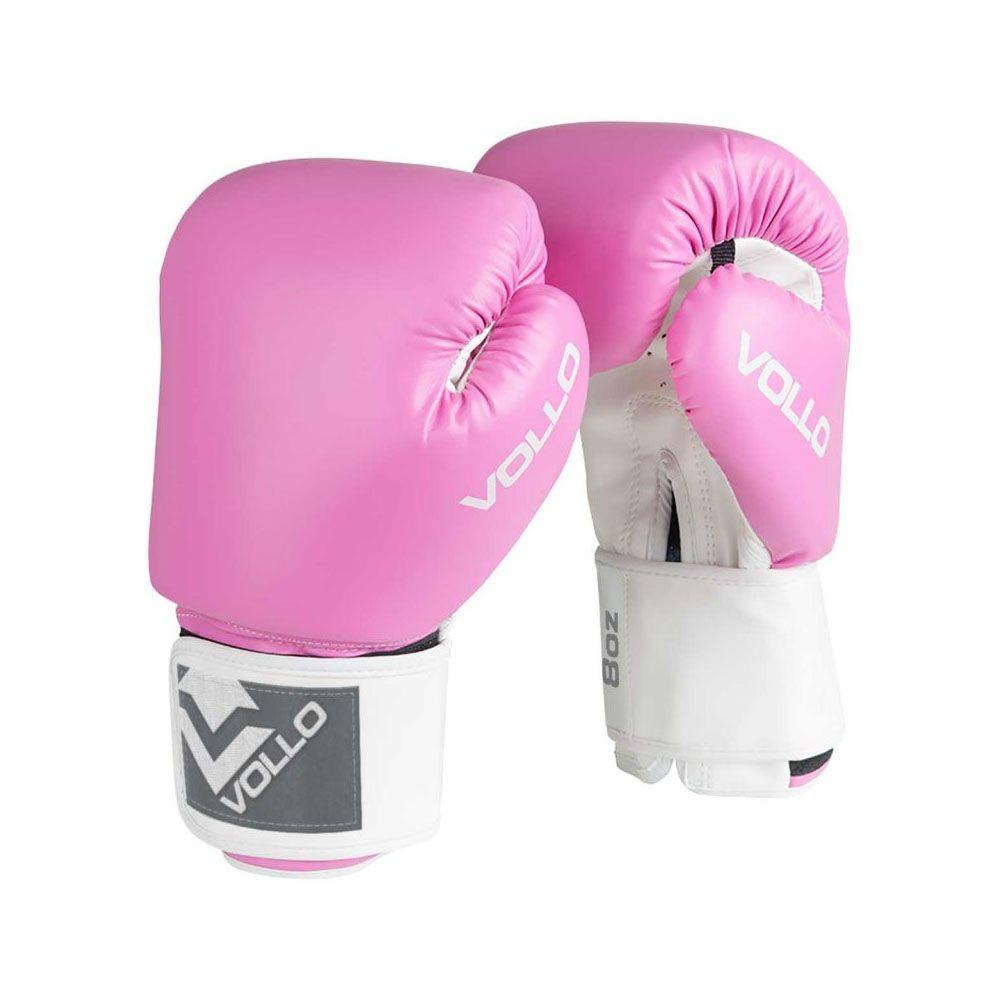Luvas Boxe / Muay Thai - Combat - VFG303 - Rosa- 10 / 12 / 14oz -  Vollo