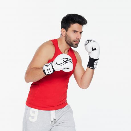 Luvas Boxe / Muay Thai - Domyos - Branca - 6/8/10 OZ - Infantil  - Loja do Competidor