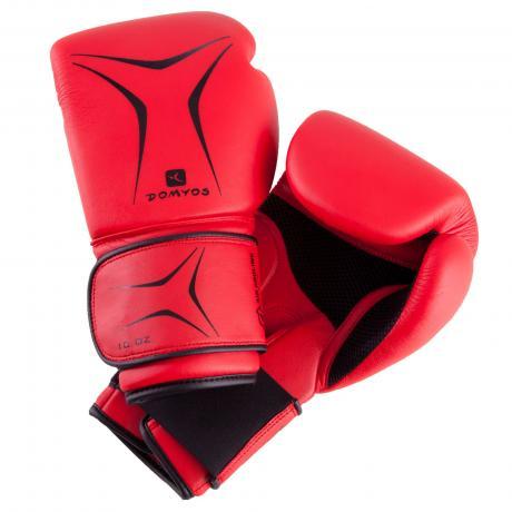 Luvas Boxe / Muay Thai - Domyos - Vermelha - 6/8/10 OZ - Infantil