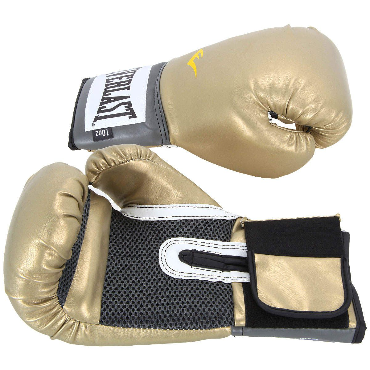 Luvas Boxe / Muay Thai - Elite  Evershield - Dourado - Everlast .  - Loja do Competidor