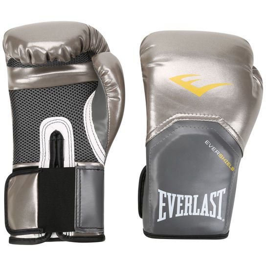 Luvas Boxe / Muay Thai - Elite  Evershield - Prateado - Everlast