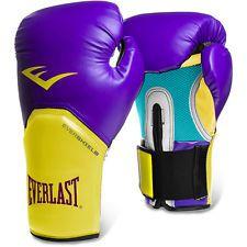 Luvas Boxe / Muay Thai - Elite  Evershield - Roxo/Amarelo- Everlast .  - Loja do Competidor