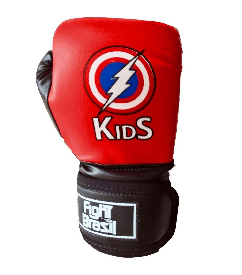 Luvas Boxe / Muay Thai - Kids - Capitão América - FBR - 4oz  - Loja do Competidor