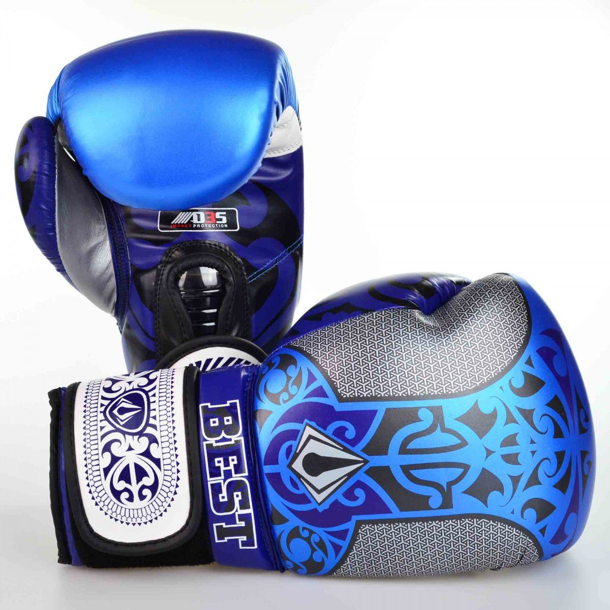 Luvas Boxe / Muay Thai - Maori - Best Defense - Azul - 10/12/14 OZ .