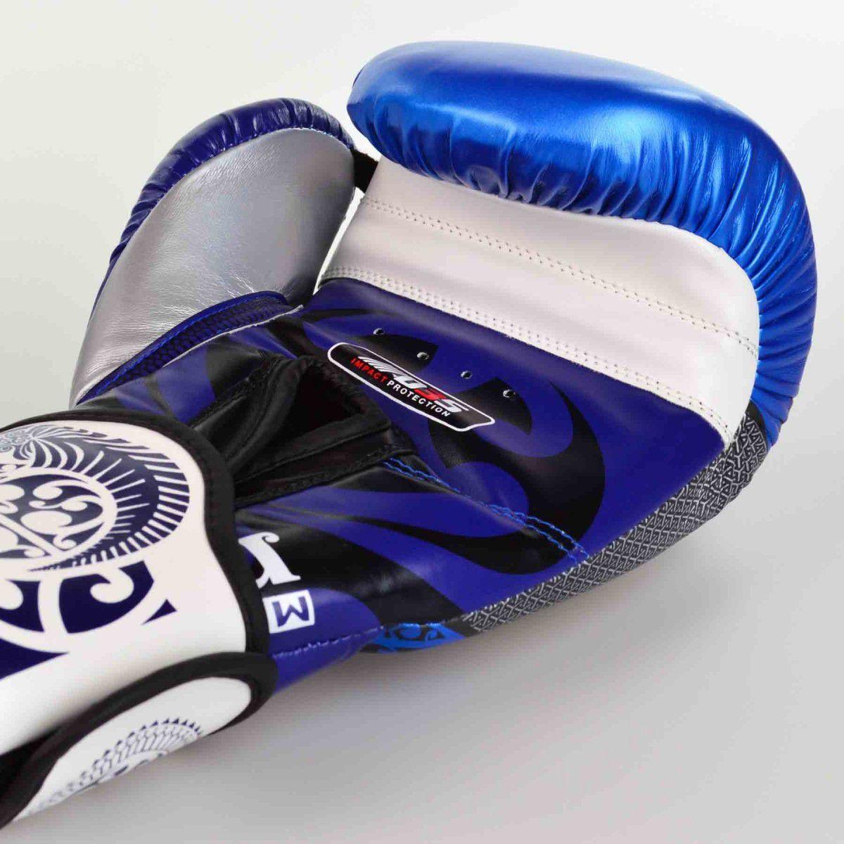 Luvas Boxe / Muay Thai - Maori - Best Defense - Azul - 10/12/14 OZ .  - Loja do Competidor