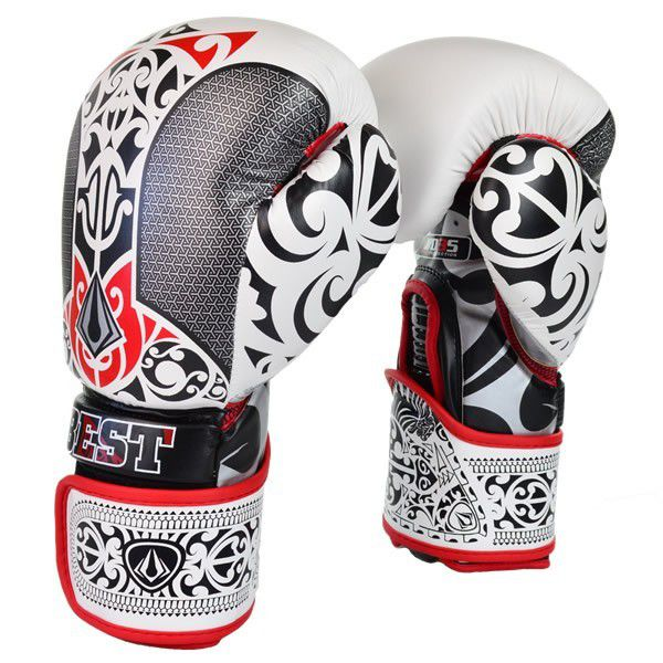 Luvas Boxe Muay Thai - Maori - Best Defense - Branca - 10/12/14OZ .